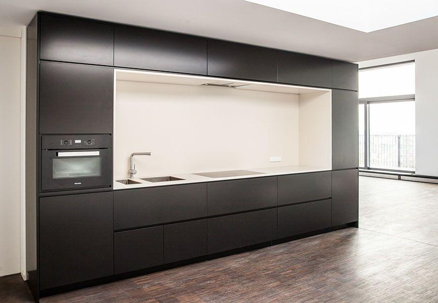 Küche Schwarz Weiß Black White Kitchen Tischler Schreiner Berlin - küche schwarz weiß