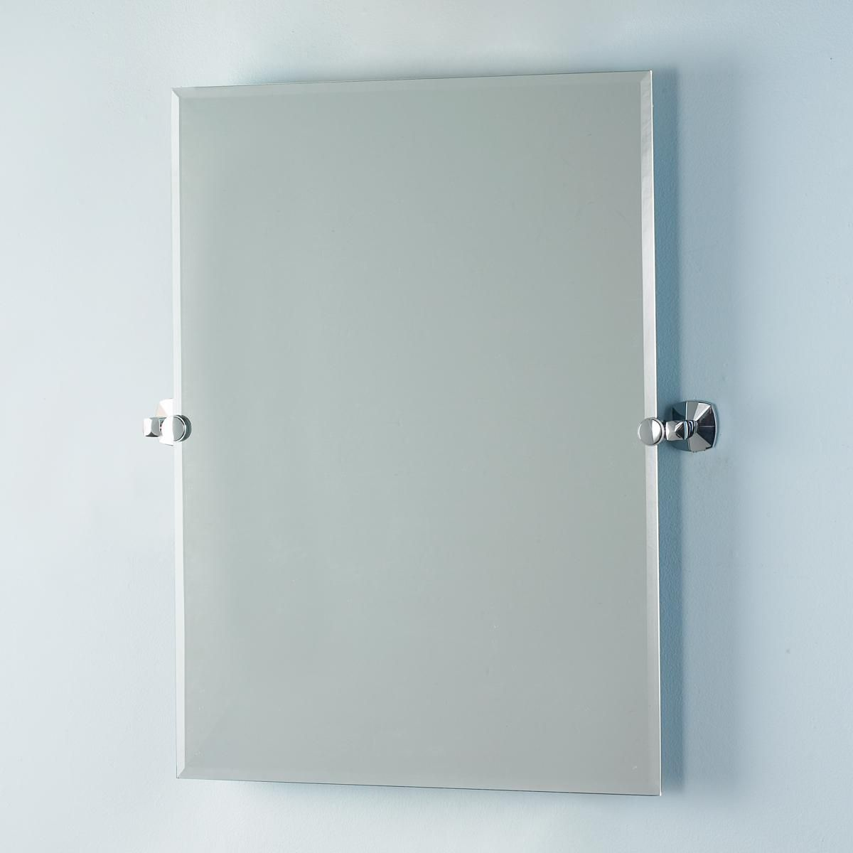 Mounting Bathroom Mirror: Casual Transitional Beveled Mirror