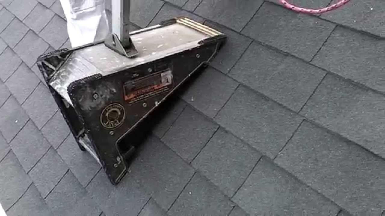 Pivit Ladder Tool On A Steep Roof Roofing Tools Tool Hacks Roof