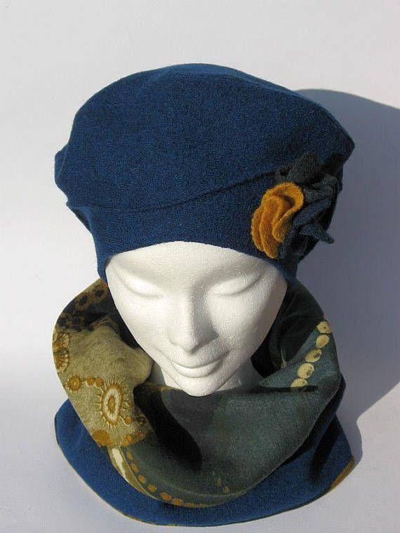 cappello basco e sciarpa girocollo set invernale set lana  d5471c5c5020