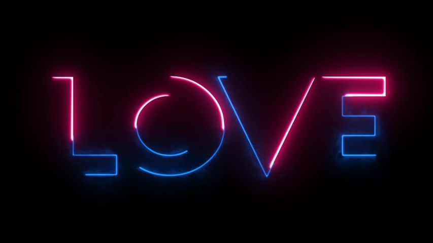 Love. Valentines Day. Wedding. Neon Stock Footage Video (100% Royalty-free) 1044100408   Shutterstock