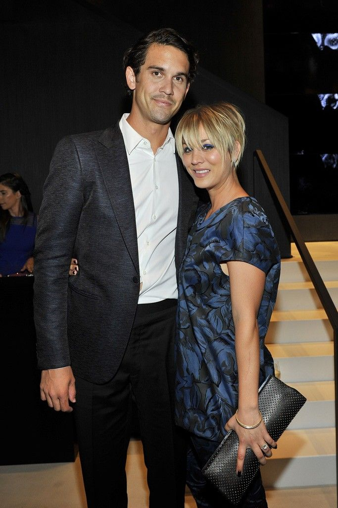 Ryan Sweeting and Kaley Cuoco in Vera Wang. [Photo by Donato Sardella]