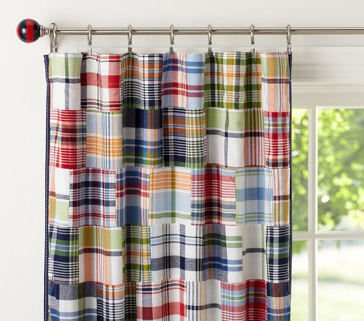 Madras curtains, Pottery Barn Kids | Cribz | Pinterest | Barn and Room