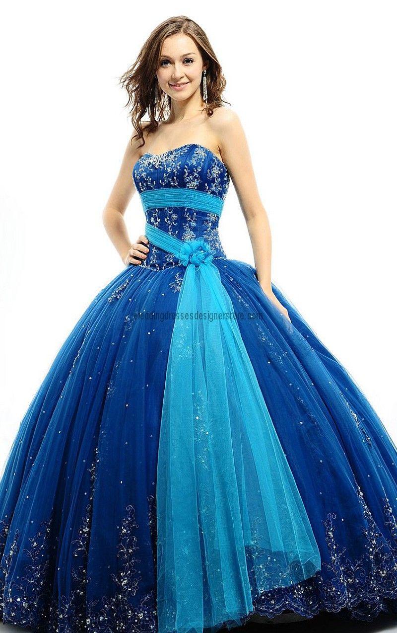 Very Beautiful and Lovely Blue Wedding Dress | Things I Like ...