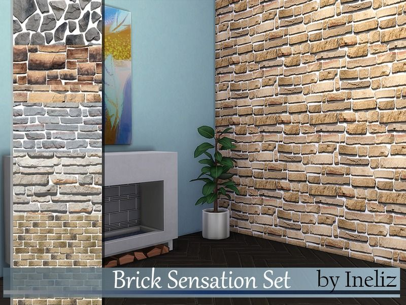 A Set Of Brick Patterns (7) In Single Color. Found In TSR Category