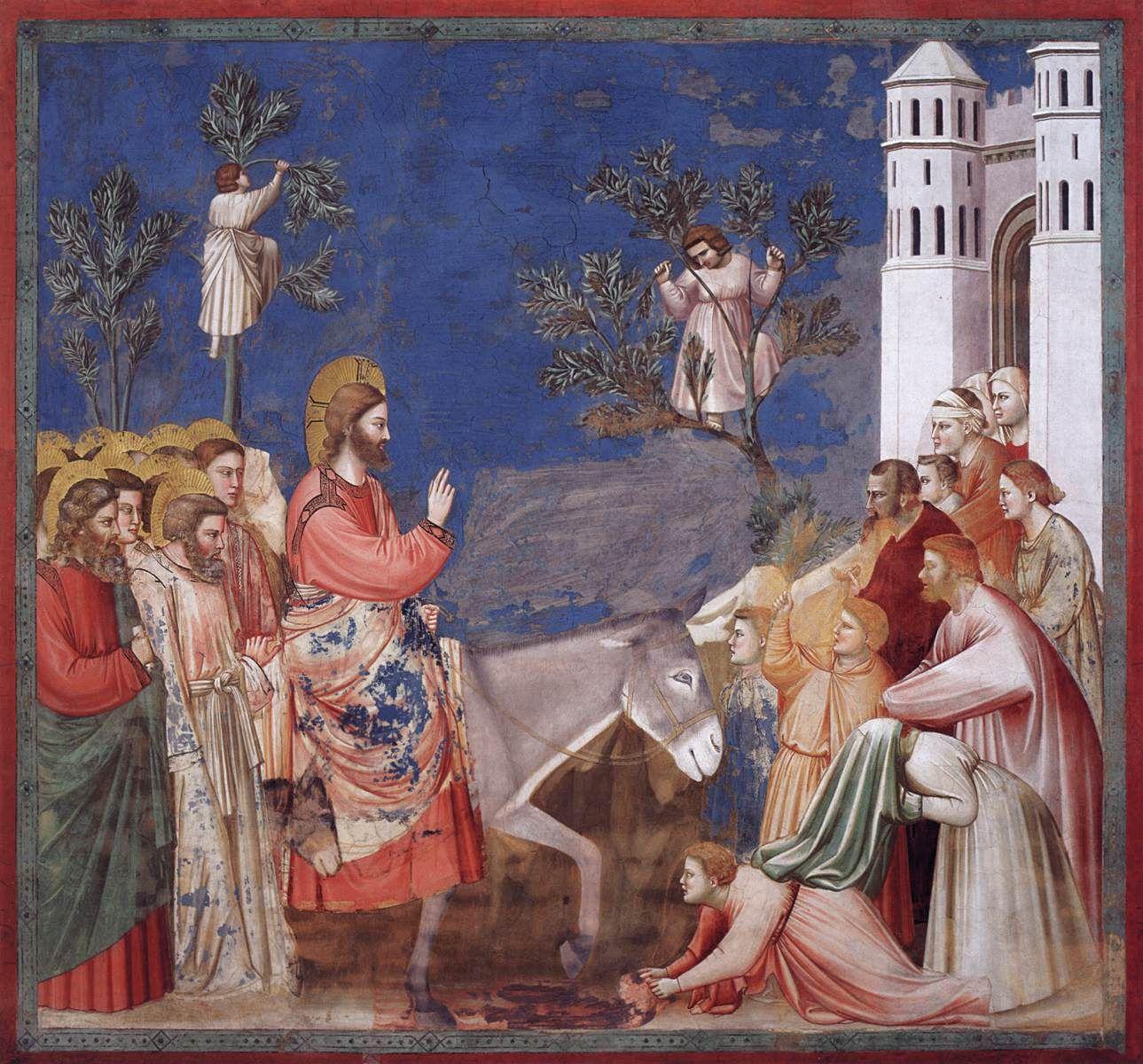 Ingresso a Gerusalemme, 1303-1305, Cappella degli Scrovegni, Padova / Giotto di Bondone (Vespignano, 1267 circa – Firenze, 1337)