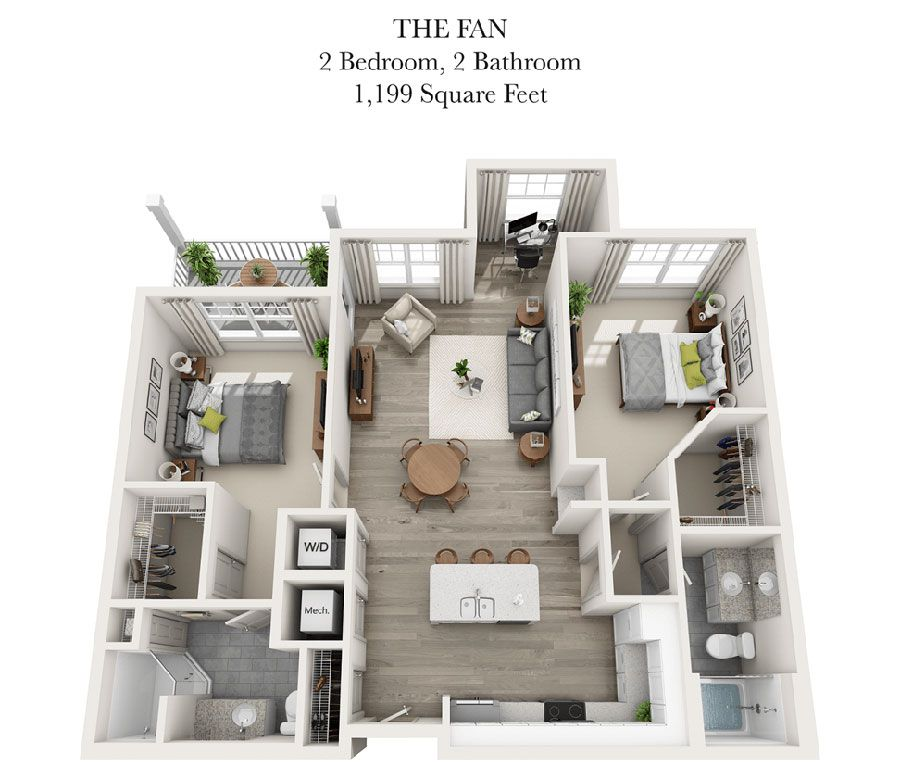 The Fan Apartment Floor Plans House Plans Floor Plans