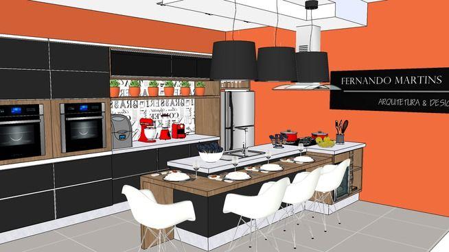 Cozinha completa 3d warehouse em 2019 cozinha completa for Mobilia sketchup 8