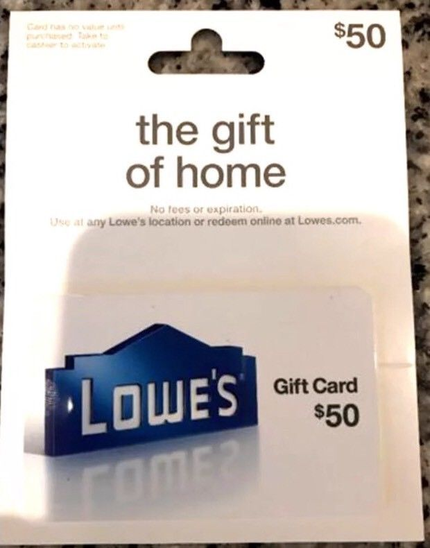 50$ Lowes Gift Card | Lowes