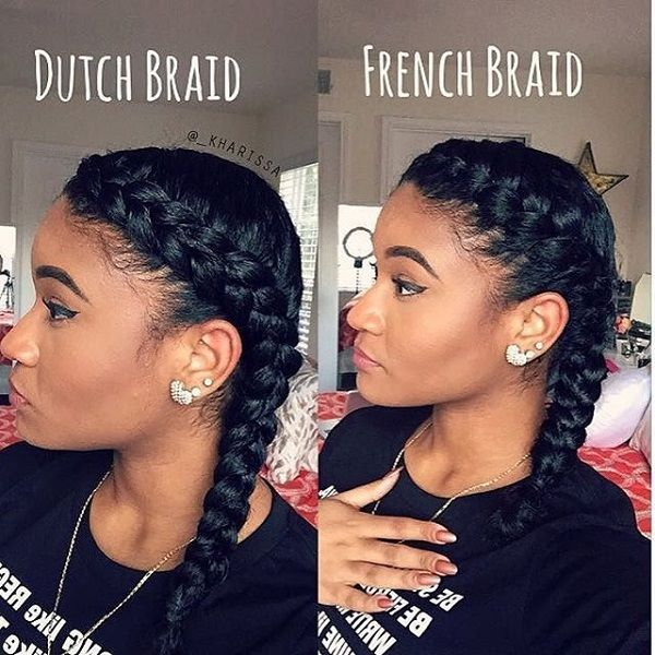 10 Hot Go To Summer Hairstyles On Natural Hair Hergivenhair Natural Hair Styles Braided Hairstyles French Braids Black Hair