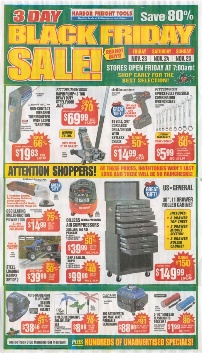Harbor Freight Black Friday Ad 2012 Find 2012 Black