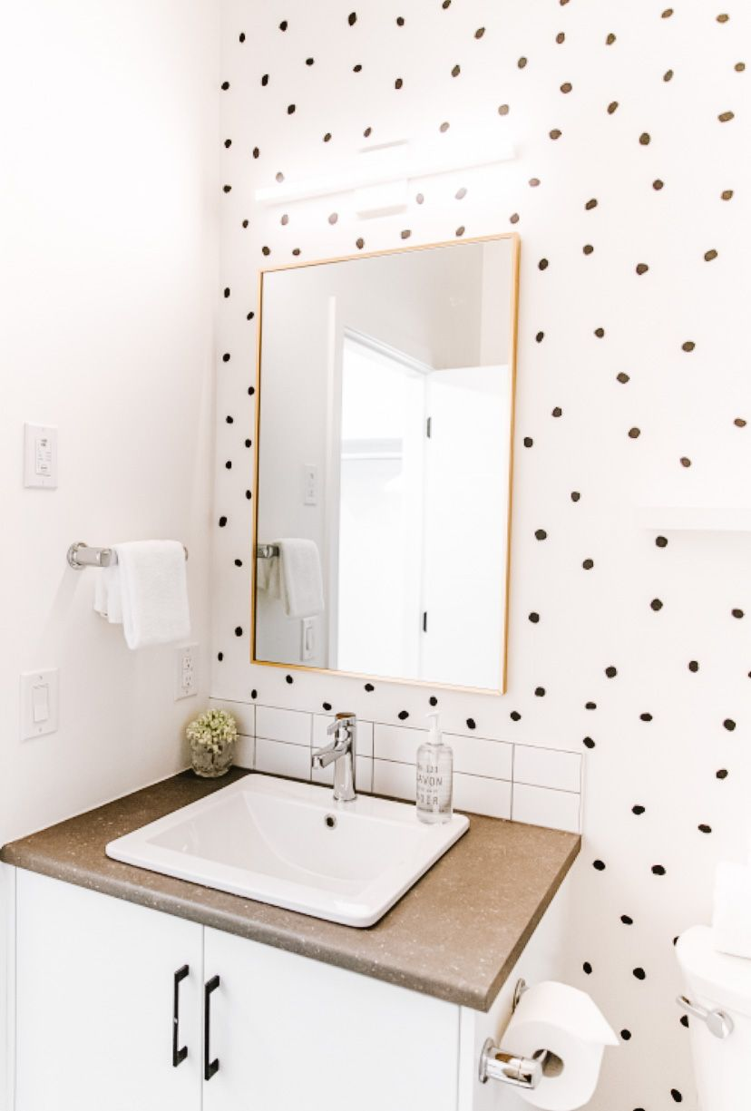 Pin By Urban Walls On So Cozy And Comfortable In 2021 Bathroom Wallpaper Modern Small Bathroom Wallpaper Colorful Bathroom Tile