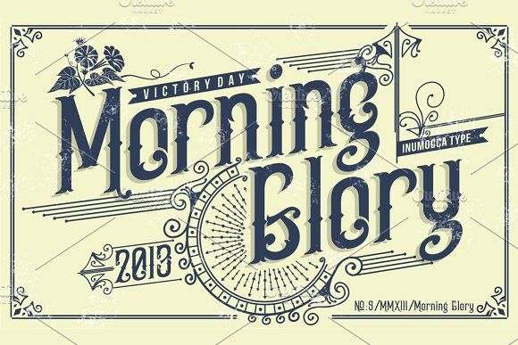Morning Glory Old School Fonts Vintage Fonts Great Fonts