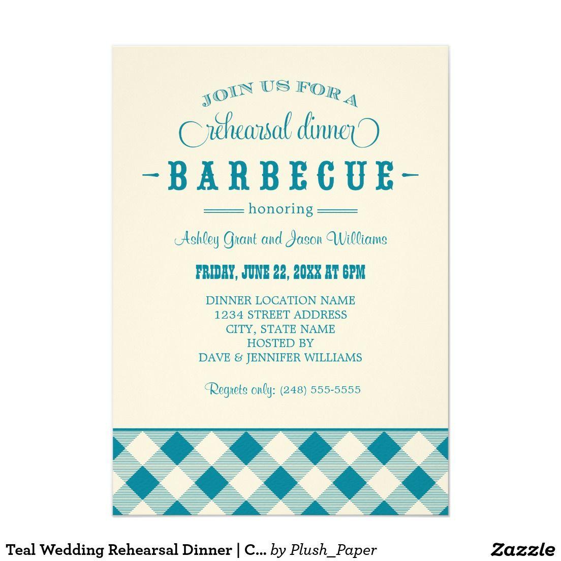 Teal Wedding Rehearsal Dinner | Casual BBQ | WEDDING REHEARSAL ...