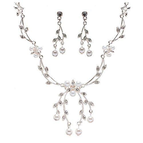 Crystalbella Bridal Wedding Prom Crystal Rhinestone Floral Pearl Necklace Silver Jewelry Set Crystalbella Jewelry http://www.amazon.com/dp/B011U4TCXU/ref=cm_sw_r_pi_dp_Z9VVvb07SKY6Q