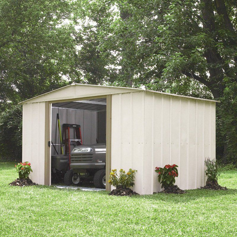 Arrow Spacemaker 7 X 10 Ft Storage Shed From Hayneedle Com Shed Storage Shed Garden Shed