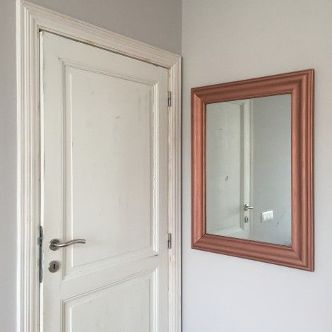 conseils pour peindre à la bombe  cadre de miroir cuivré - www - peinture en bombe pour bois