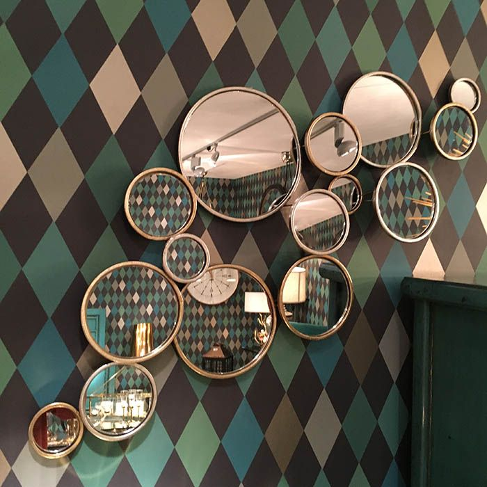 Thie Modern Black Mirror Is A Simple Frame Line In A Circle So Simple But So Perfect For A Contem Round Mirror Bathroom Bathroom Mirror Lights Circular Mirror