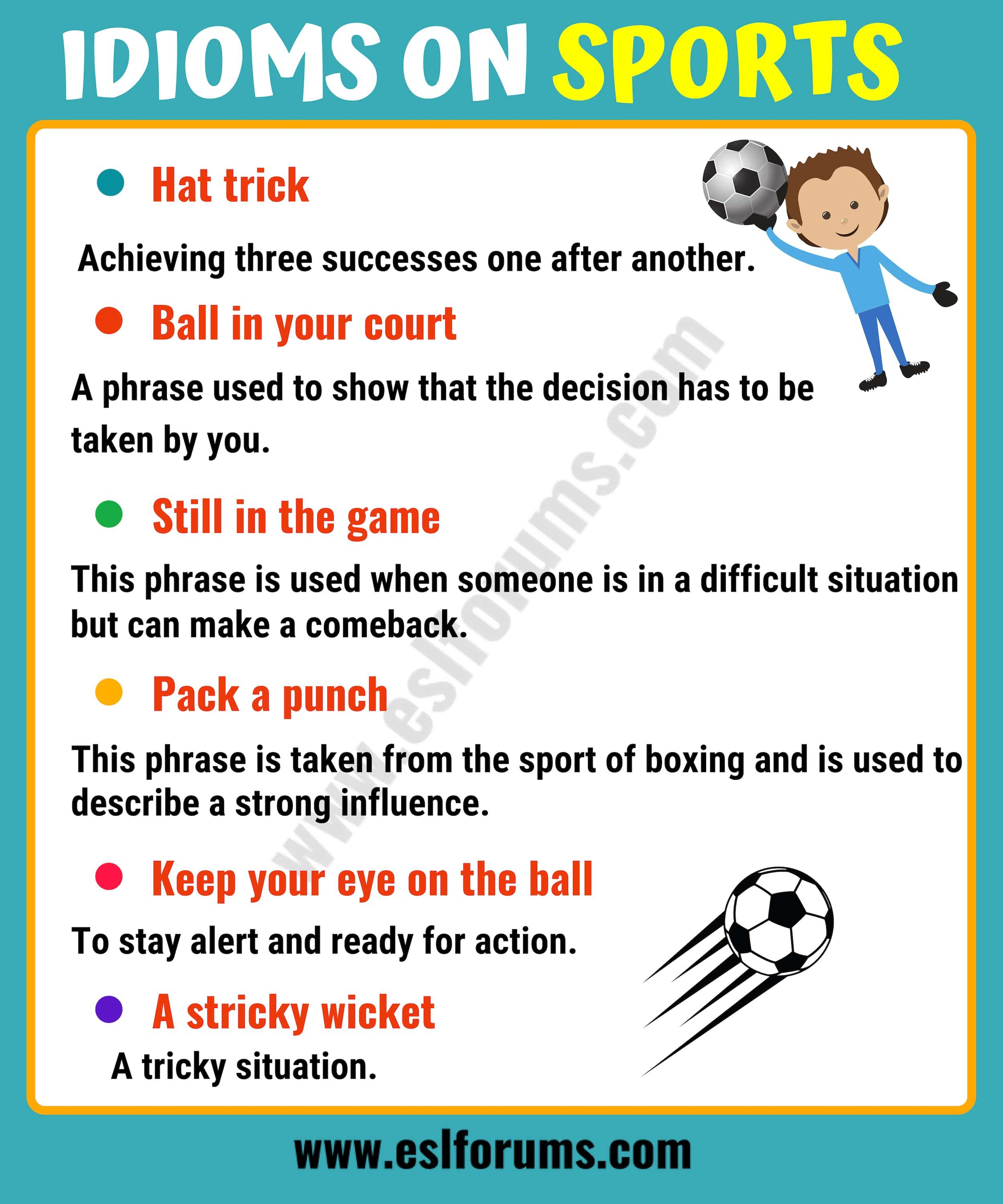 10 Funny Sports Idioms In English