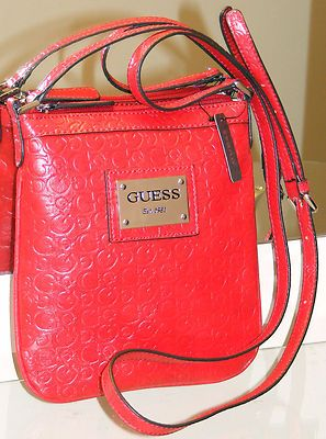 01b2c78370 Guess Marciano Red Pioneer Mini Cross X-body Handbag Bag Purse G Logo  Se295969