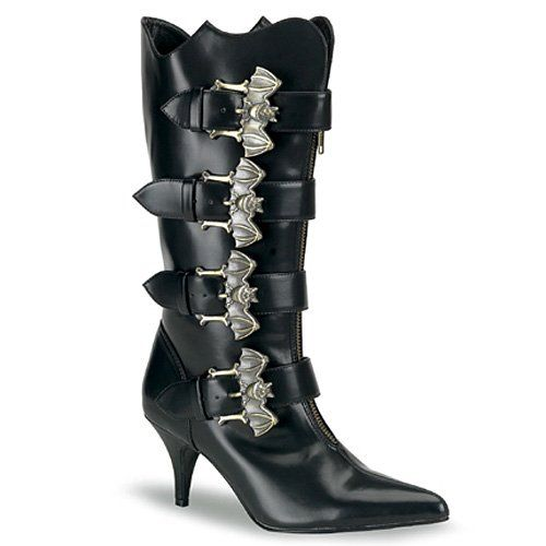 FURY-107, Calf Goth Boot With Broze Bat Buckle Boots http://www.amazon.com/dp/B0030FAS9U/?tag=icypnt-20