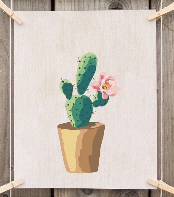 Cactus art print printable cactus printable art cactus for Ikea coupon imprimable