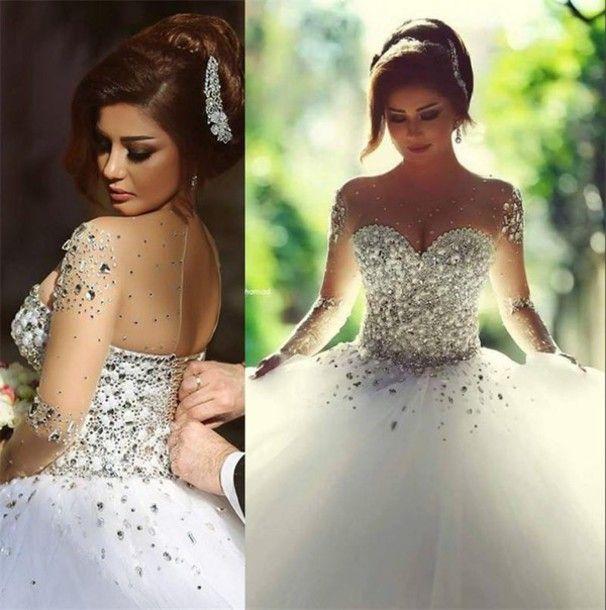 Rhinestone Crystal Wedding Dress