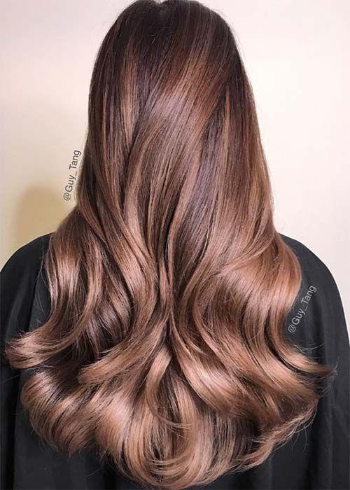 Chocolate Mauve Hair Color Ideas Cabelo Na Cor Chocolate, Cabelo Castanho  Iluminado, Cabelos Ruivos