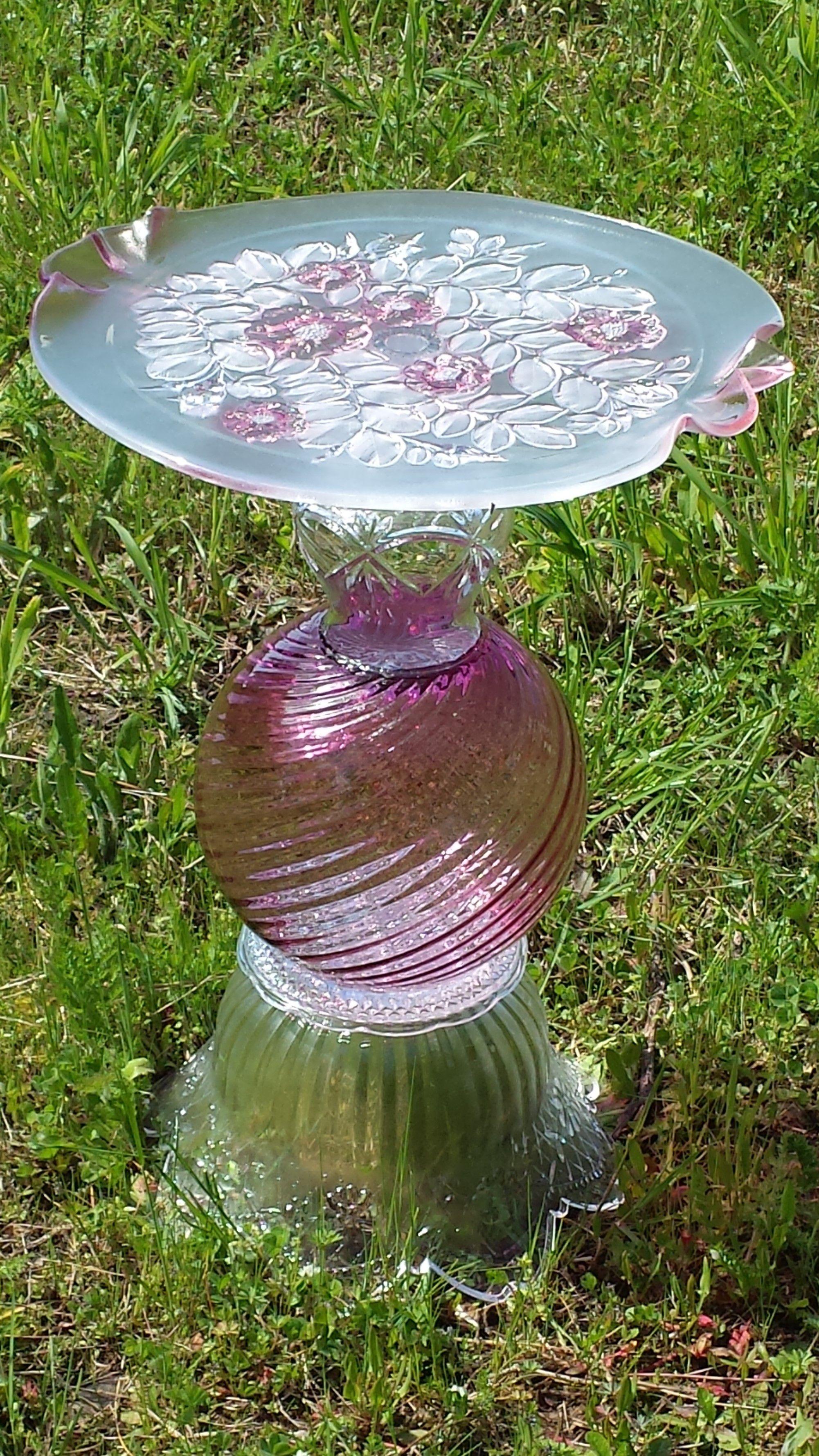 Glass yard art  Pin by FlamelessAndShameless on Yard Art  Pinterest  Garden art