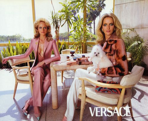 Wall of Inspiration   Stylist Lori Goldstein's Iconic Versace Ads