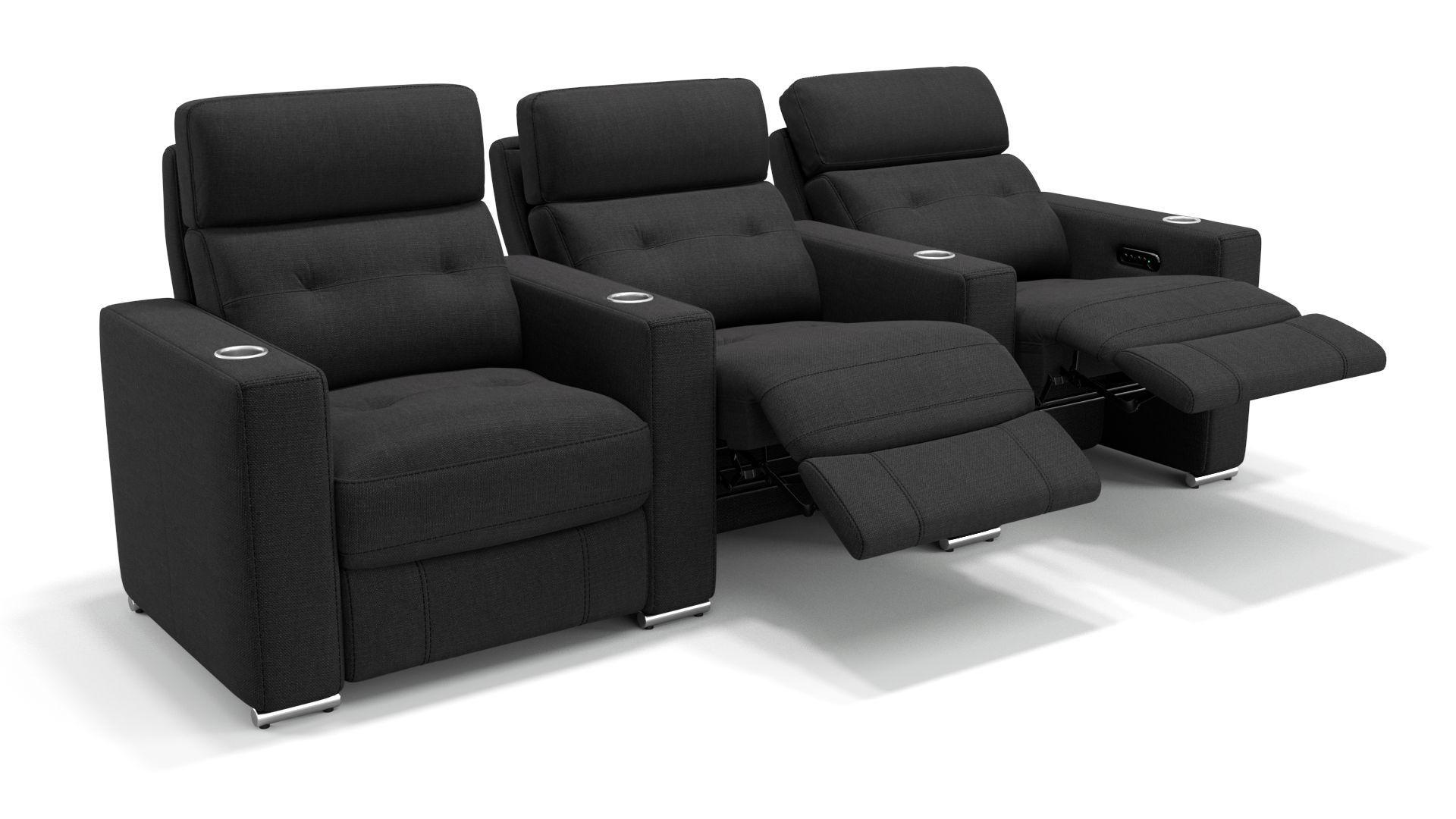 Details Elektrische Relaxfunktion Per Knopfdruck An Allen Sitzen Elektrisch Getrennt Verstellbare Kopflehnen Eingebauter In 2020 Fernsehzimmer Sofa Stoff Heimkino