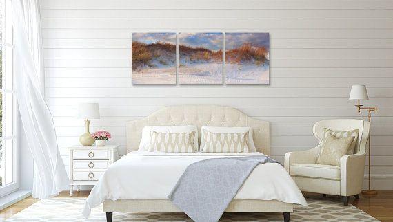 Extra Large Canvas Wall Art Beach Photography Three 3 Panel