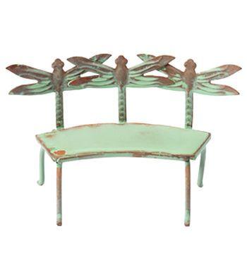 Admirable Fairy Garden Dragonfly Verdigris Bench Fairy Garden Ideas Bralicious Painted Fabric Chair Ideas Braliciousco
