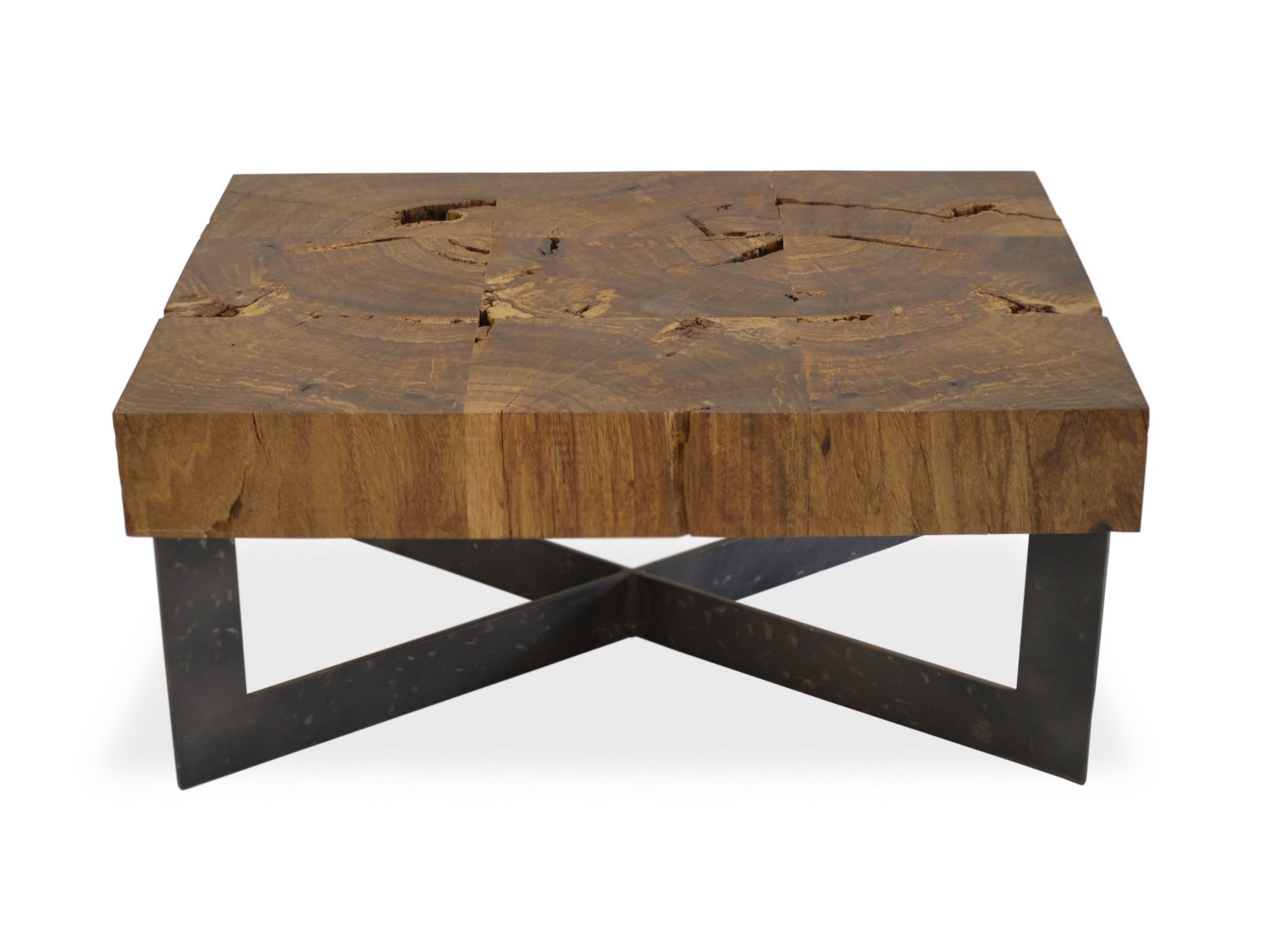 Reclaimed Wood Mosaic Coffee Table