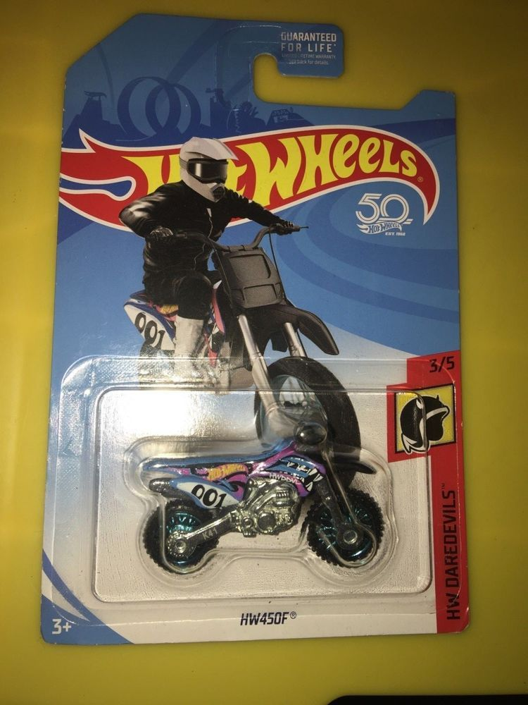 Hot Wheels Dirt Bike Hw450f 3 5 Hotwheels Hot Wheels Ebay Wheel