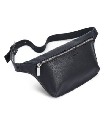 5ca3b782 Calvin Klein Pebble Leather Fanny Pack - Black/Silver | Products in ...
