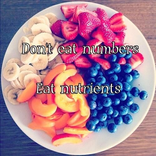 Don't eat numbers Eat nutrients