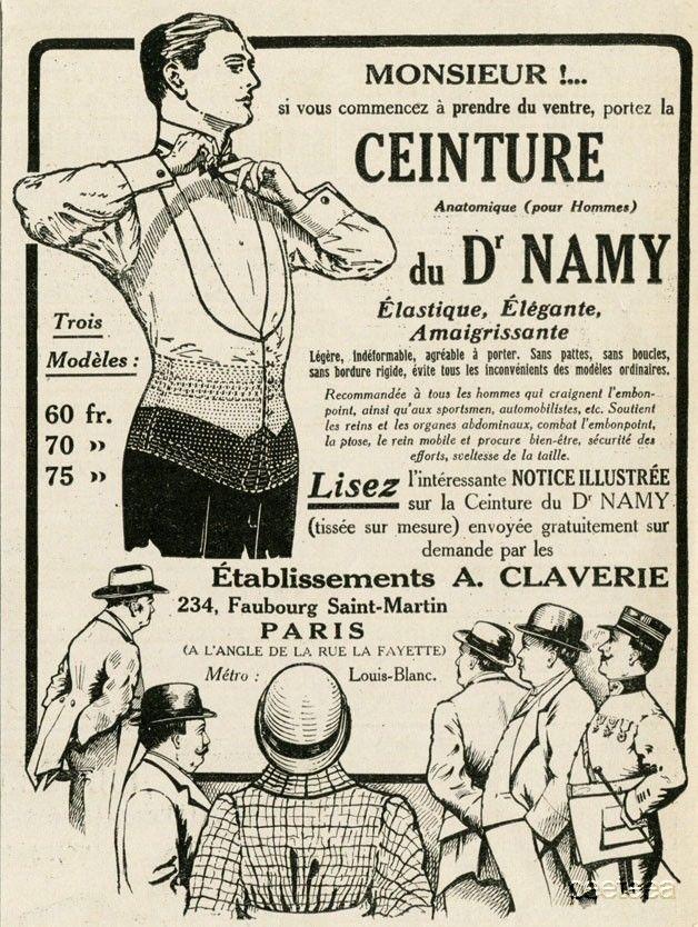 A.Claverie Dr.Namy Ceinture Man s Corset. Original Magazine Print    Advertisement. Note  This is a single original print from a period magazine  from1925, ... d4deedf71c7