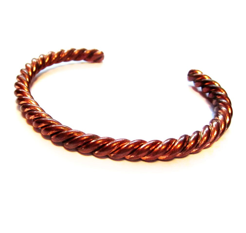Vintage Copper Cuff Bracelet, Twisted Metal | Copper cuff, Handmade ...