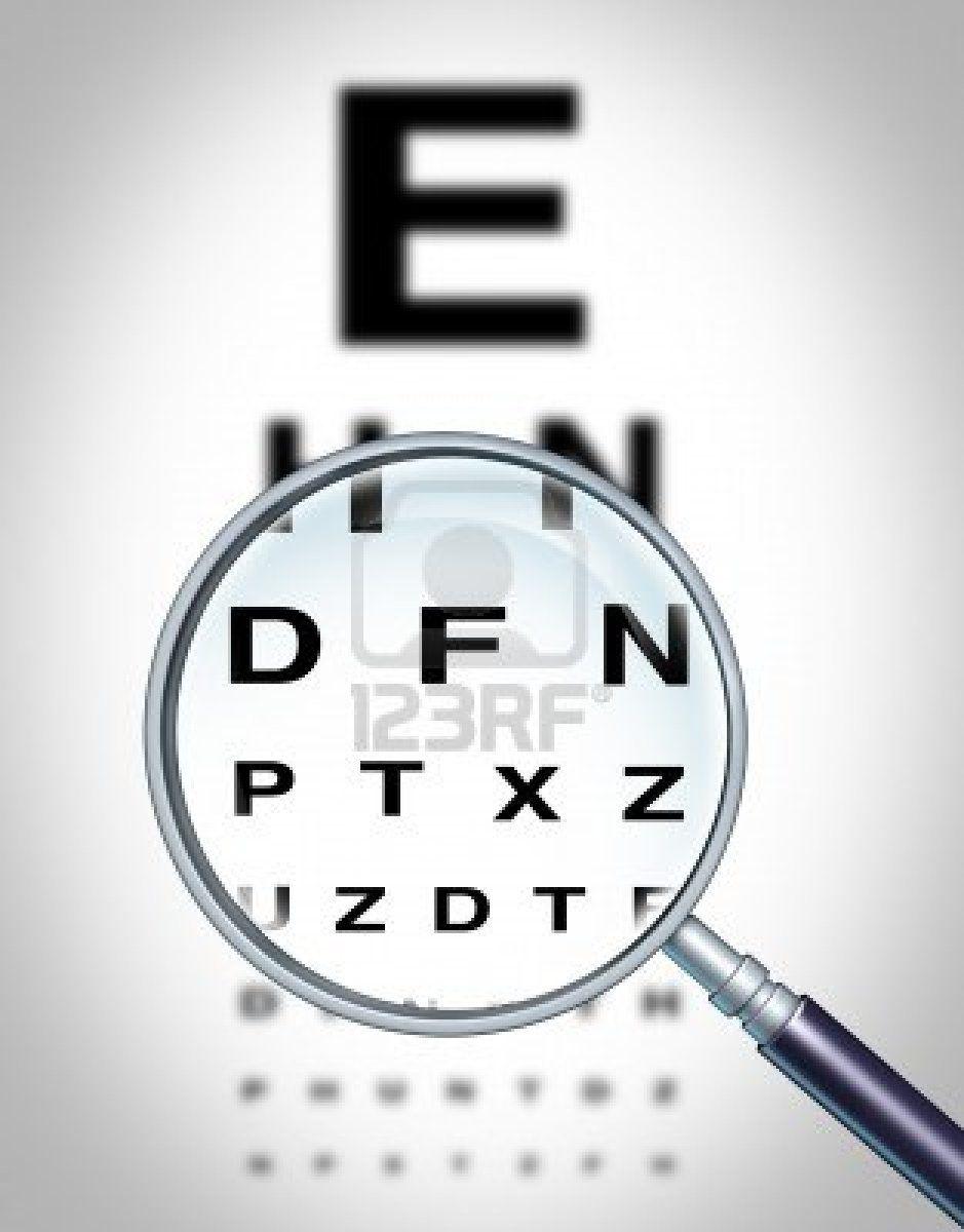 Human Eye Vision Chart And Sight Medical Optometrist Symbol For