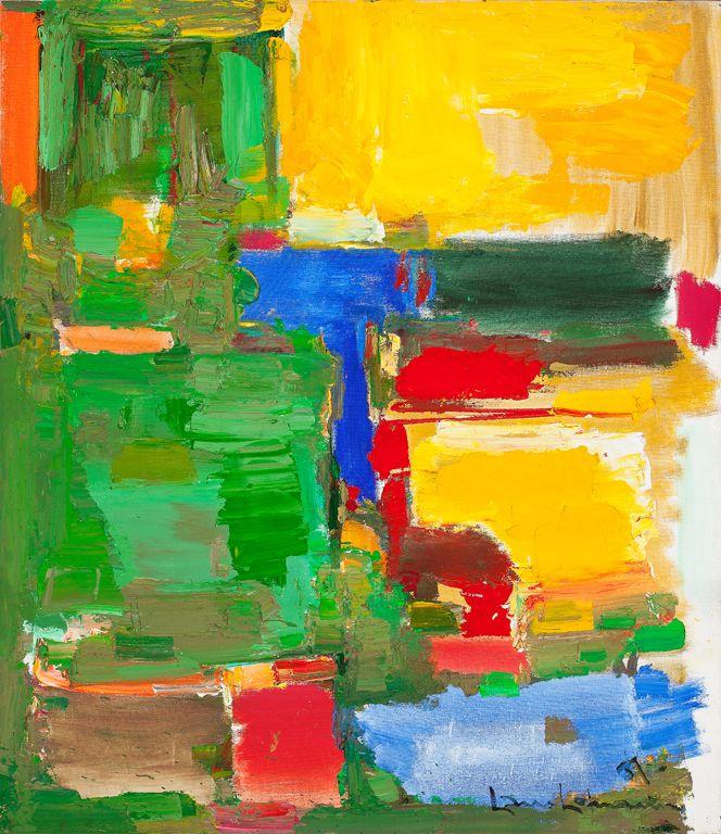 Hans Hofmann / Dew and Dusk / 1957 / Milwaukee Art Museum | Hans ...