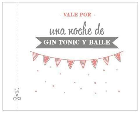 Vale Por Una Noche De Baile Y Bebida Frases Para Tarjetas Vales De Regalo Regalos Para San Valentin