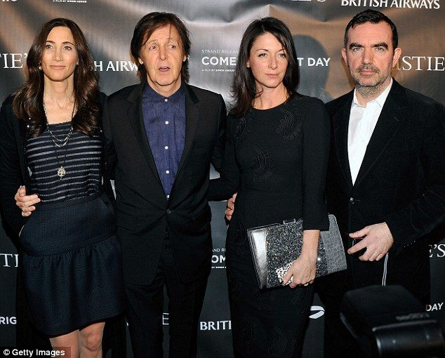 A Family Affair Sir Paul Mccartney Steps Out With Wife Nancy Shevell To Support His Son In Law S First Film Paul Mccartney Sir Paul Mary Mccartney