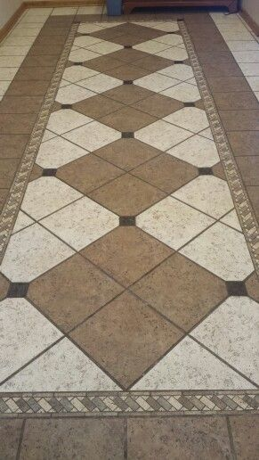 Custom Tile Floor Pattern Created By Debra Levy Interior
