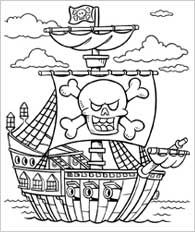 pirate things for 2nd graders | Funschool - Pirates - Coloring ...