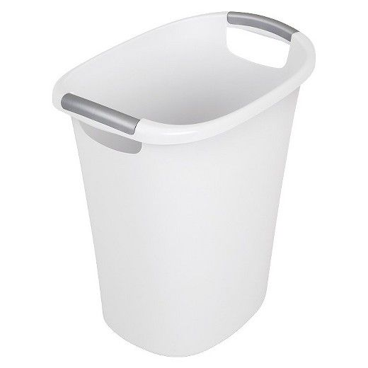 21 Qt Large Open Wastebasket Awesome Sterilite® 24 Qt6 Galwastebasket  White  Color Accents Sinks Inspiration Design