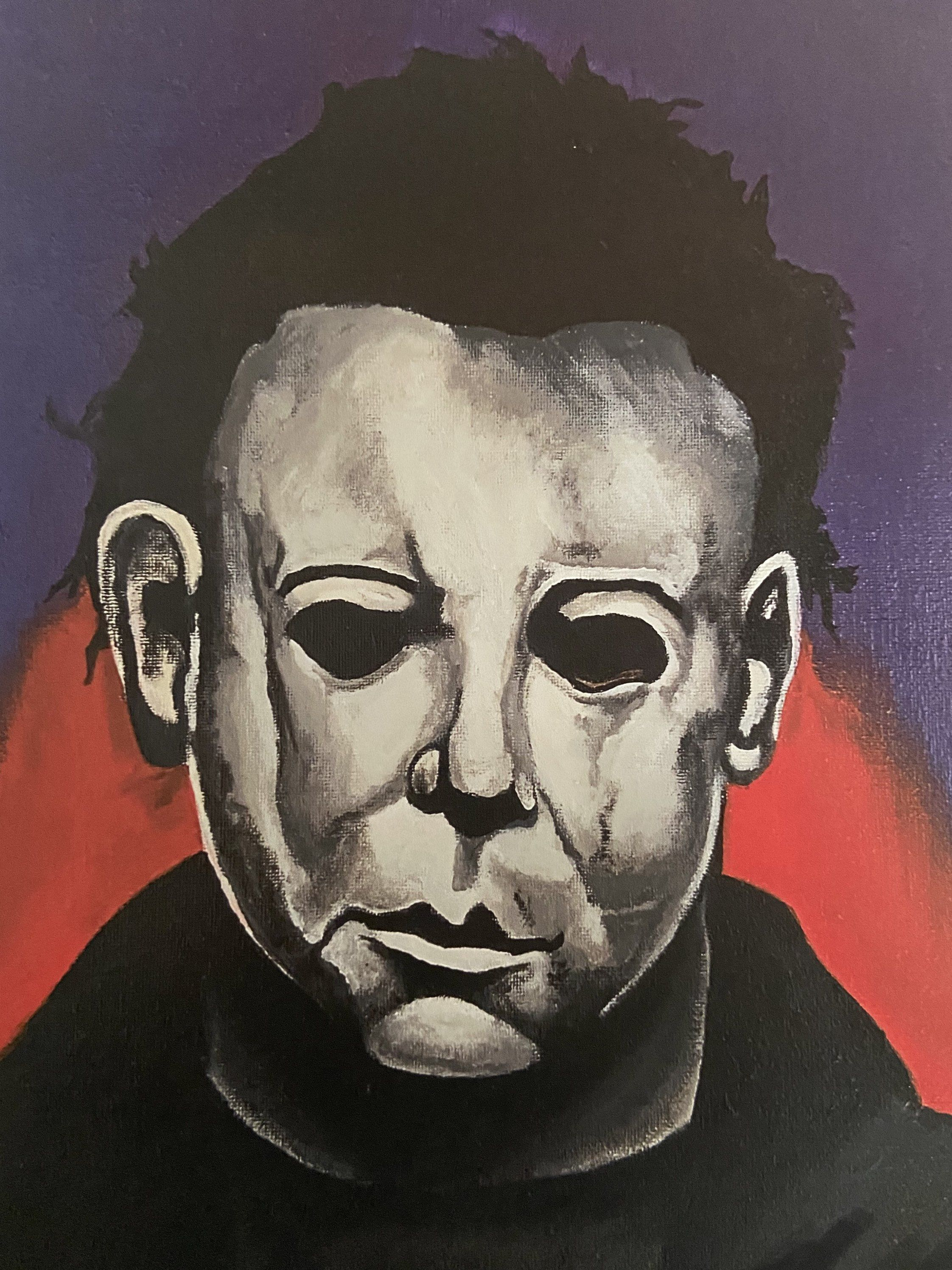 Halloween 2020 Fan Art Posters Michael Myers original painting PRINT*   Halloween Movie Fan Art