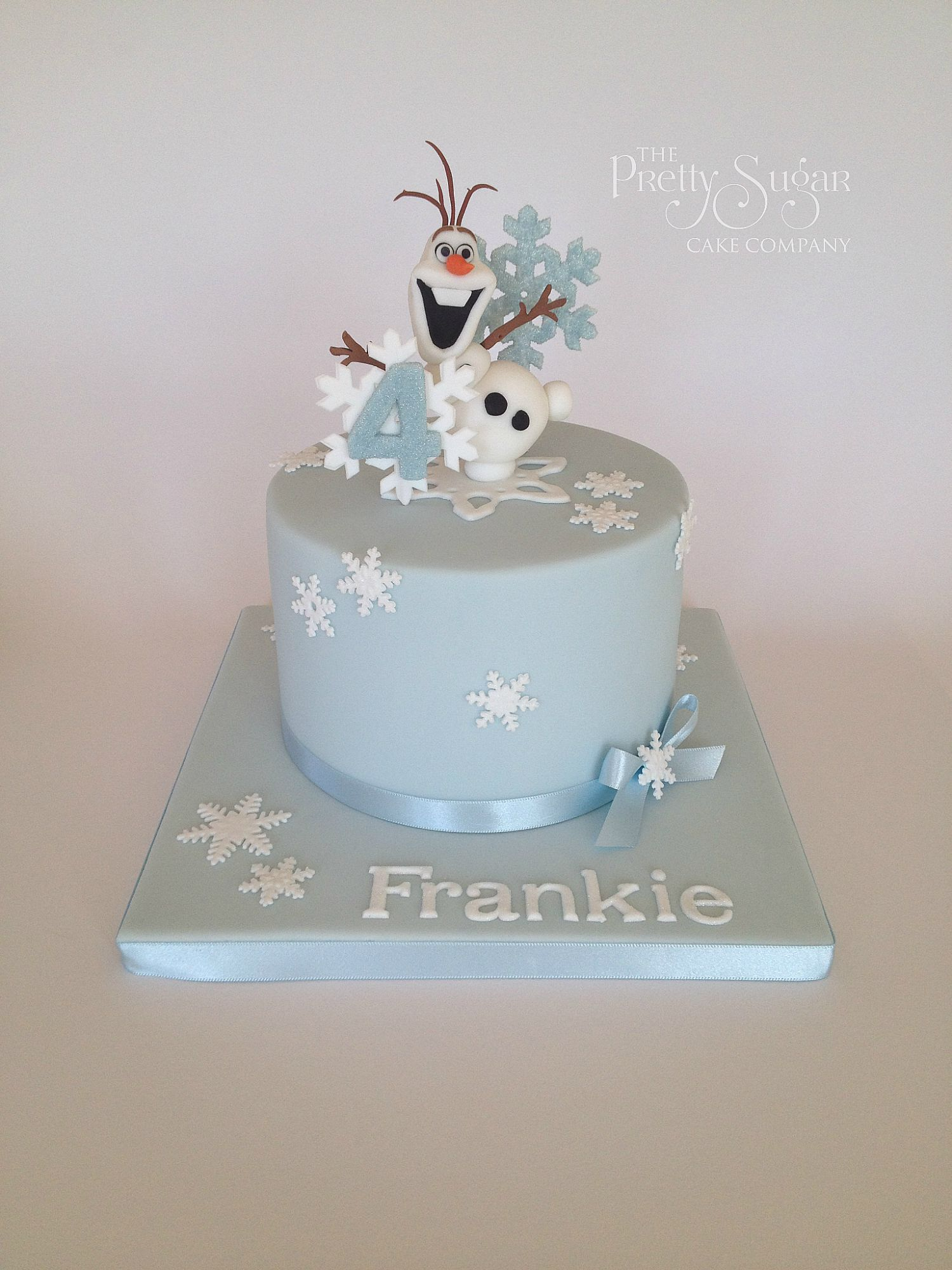 Astonishing Frozen Theme Birthday Cake With Olaf And Snowflakes Topper Funny Birthday Cards Online Alyptdamsfinfo