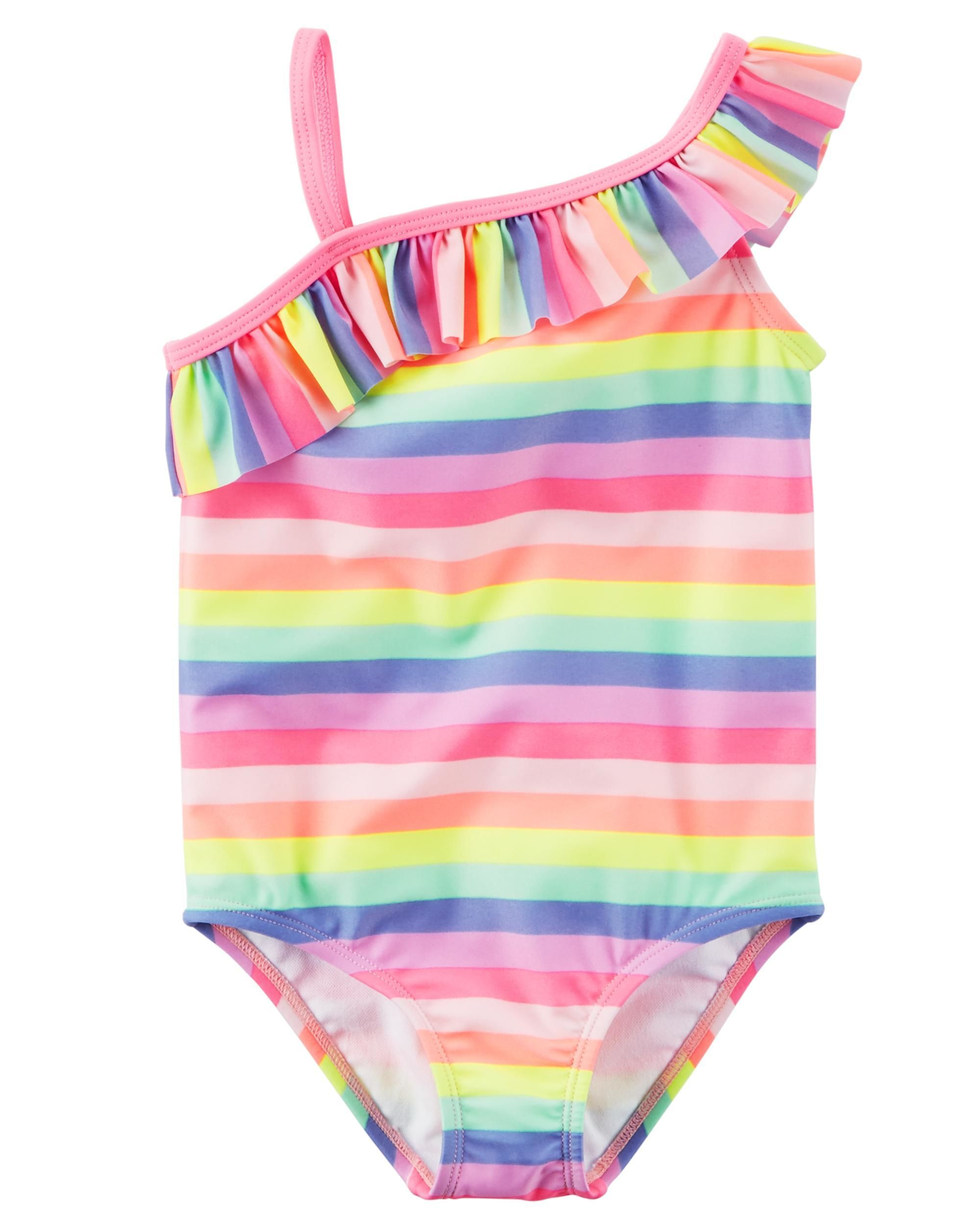 With UPF 50+ protection and a cute stripe print, this swimsuit is perfect for pool days or trips to the beach.