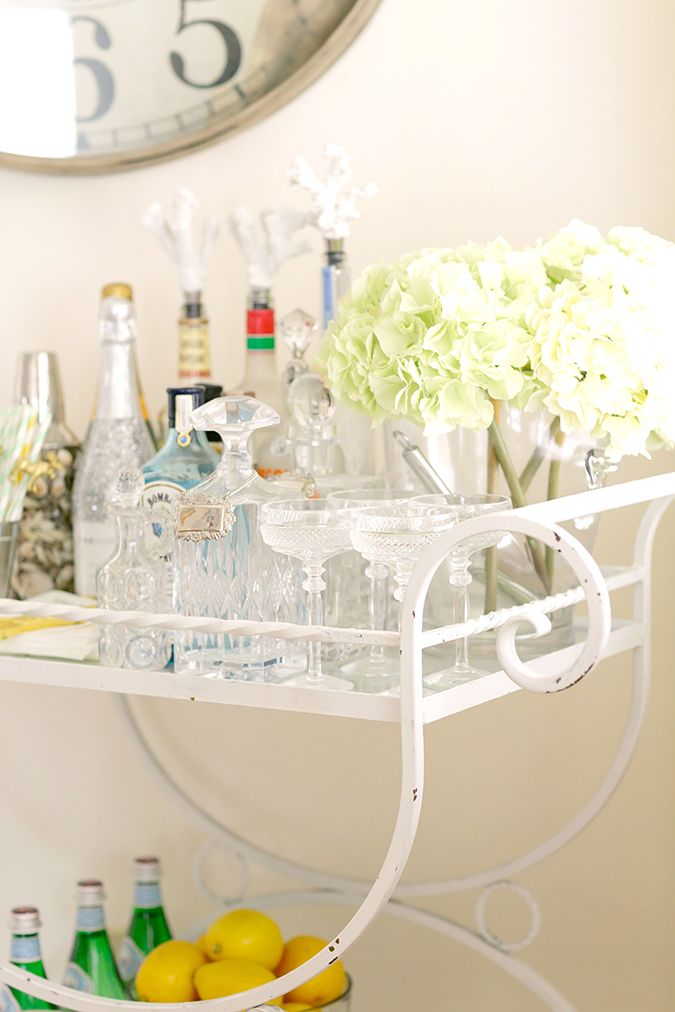 Make Sure Youu0027ve Got Every Detail Right On Your At Home Bar Cart